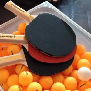 Grilld ping pong bats