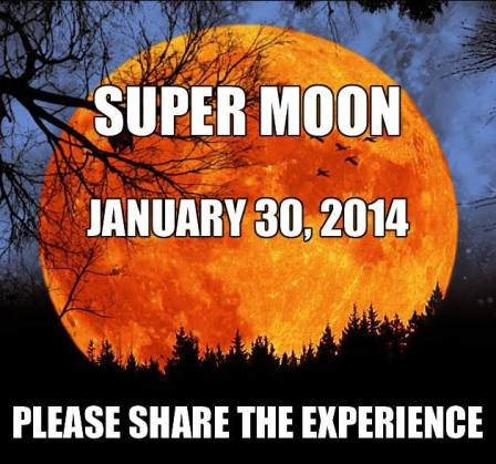 super moon 30 jan 2014